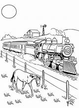 Steam Coloring Trains Drawing Railroad Train Pages Freight Eating Horse Beside Print Printable Drawings Getcolorings Getdrawings sketch template