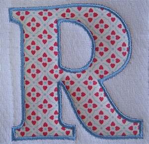 6 best images of printable applique letters free With applique letters for quilting