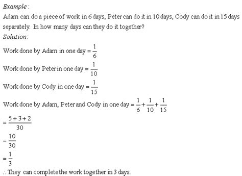 word problems on time and work ii grade 8