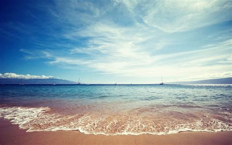 Ocean, Beach, Boats, Seascapes Wallpapers