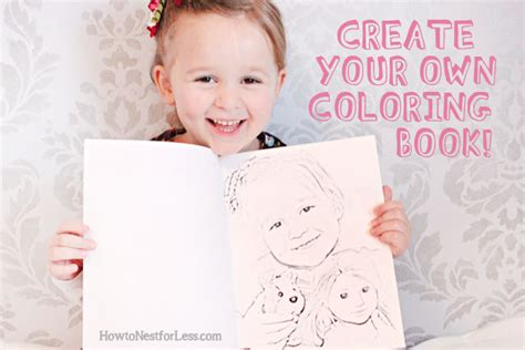 Make Your Own Coloring Book With Family Photos  How To