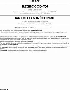 Ikea Icr444db00 User Manual Electric Cooktop Manuals And