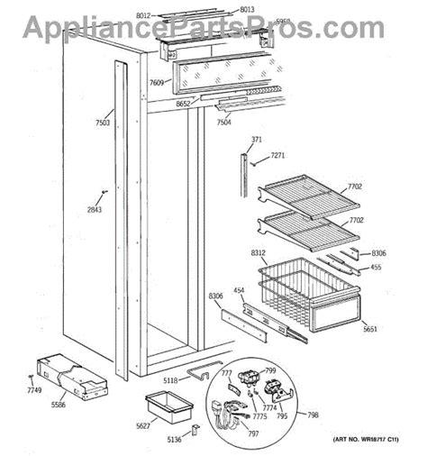 parts  ge zissdcass freezer section parts appliancepartsproscom