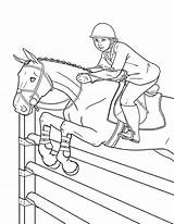 Horse Coloring Fun Printable Race sketch template