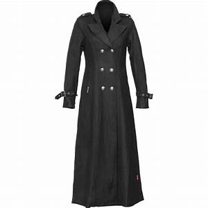Gothic clothing: military coat for women from the-black