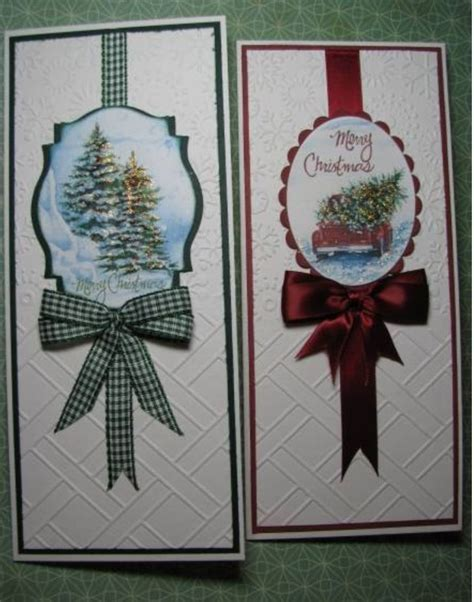 fancy tall thin cards   homemade christmas cards