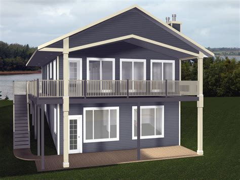Cabin House Plans With Walkout Basement Small Cabin House