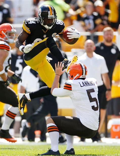 antonio brown kicks browns punter video business insider