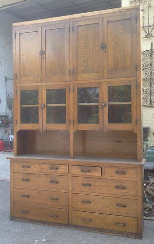 Kitchen Pantry Cabinets For Sale - antique large oak butler s pantry cabinet cupboard storage