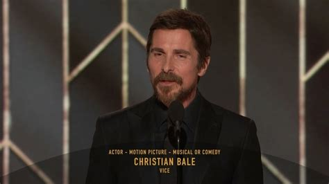 Christian Bale Wins Best Actor Golden Globes