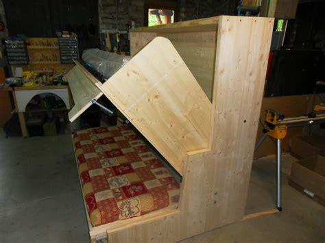 lit superposé canapé lit relevable avec banquette escamotable vercors literie