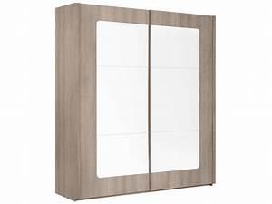 Penderie Porte Coulissante : armoire 2 portes coulissantes avec miroir resine de ~ Dallasstarsshop.com Idées de Décoration