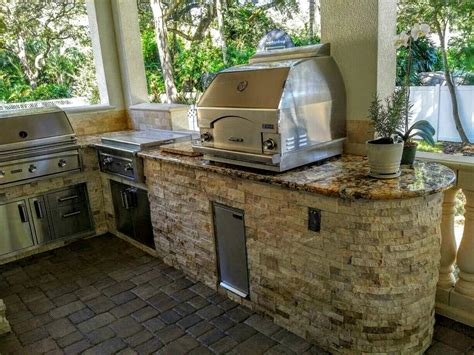 Small Kitchen Setup Ideas - creative outdoor kitchens outdoor kitchen with grill pizza oven creative outdoor kitchens