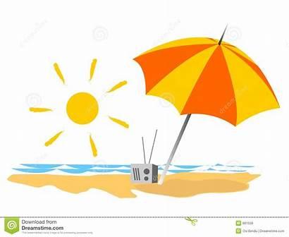 Summer Clipart Beach Seaside Vacations Umbrella Sand