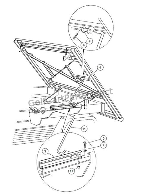 Club Car Xrt Part Diagram by Prop Rod Turf Carryall 2 252 2 Xrt And Carryall 2