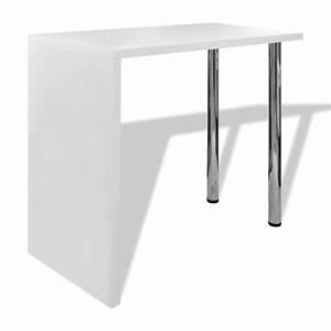 Table De Bar Blanche : la boutique en ligne table blanche verniss e table de bar 2 pieds ~ Voncanada.com Idées de Décoration