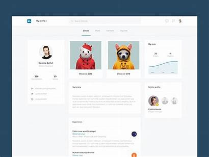 Linkedin Profile Ui Concept Psd Dribbble Inspiration