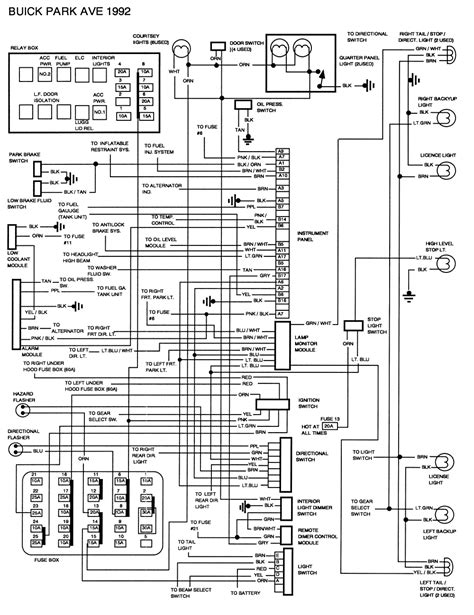 Wire Diagram 95 Buick Century by 1992 Buick Riviera Fuse Box Diagram Wiring Library