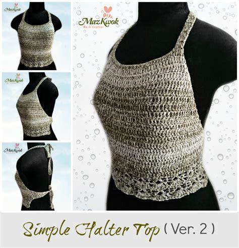 crochet simple halter top, crochet halter top free pattern