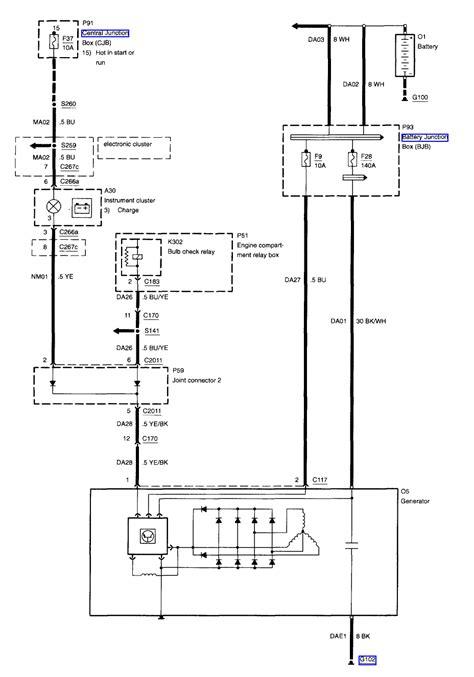 99 Mercury Wiper Motor Wiring by Howtorepairguide Alternator Wiring Diagram For 2001