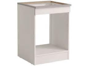 meuble cuisine pour four meuble bas 60 cm four plaque spoon coloris blanc vente