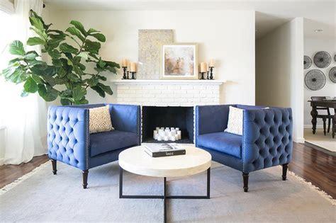 Steel Blue Gold Living Room