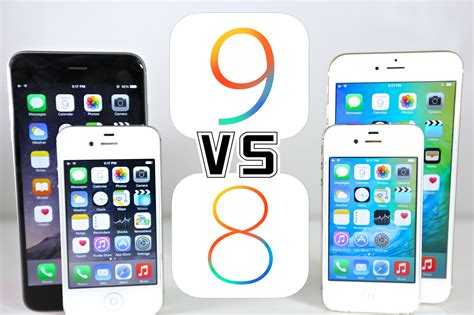 ios 8 iphone 4 ios 9 vs ios 8 on iphone 6 5s 5 4s which is faster