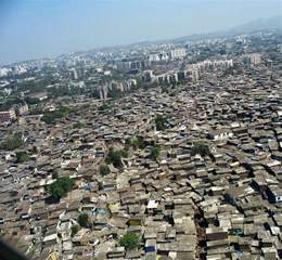 Stock Pictures: Slums in India - Aerial View