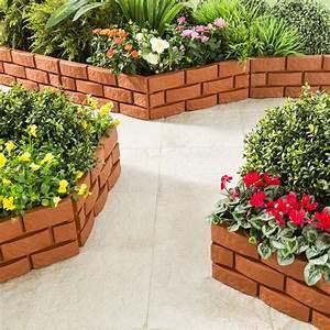 Bordure Jardin Pvc : bordure de jardin imitation brique achat prix pas cher ~ Melissatoandfro.com Idées de Décoration