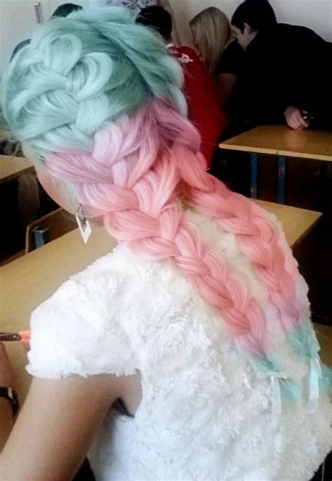 Pink Blue Pastel Braided Hair Stylefrizz Photo Gallery