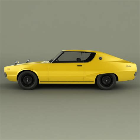 Datsun Models by Datsun Skyline 240k Gt 3d Model Max Obj 3ds Fbx Cgtrader