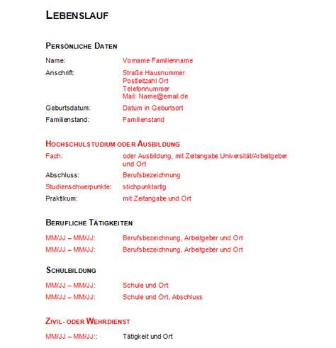Vorlage Lebenslauf 2016 by Lebenslauf Vorlage 2016 Dokument Blogs