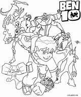 Coloring Ben Pages Alien Colouring Ten Arms Four Print Characters Printable Ultimate Force Cool2bkids Omnitrix Template Ditto Sheets Ben10 Cartoon sketch template