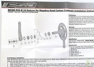 Fsa Bb30a Bottom Bracket Adapter For Mega Exo Or Shimano Crankset