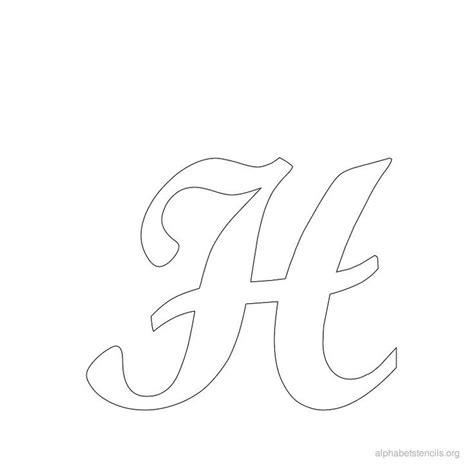 print  alphabet stencils cursive  printables