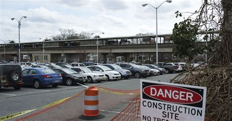 Construction Lot work starts on expanding patco lot in collingswood