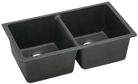 cheap black kitchen sinks buy best cheap elkay elgu3322bk0 gourmet e granite 5240