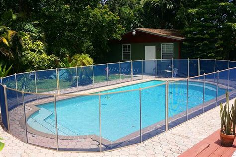 Blue Swimming Pool Fences