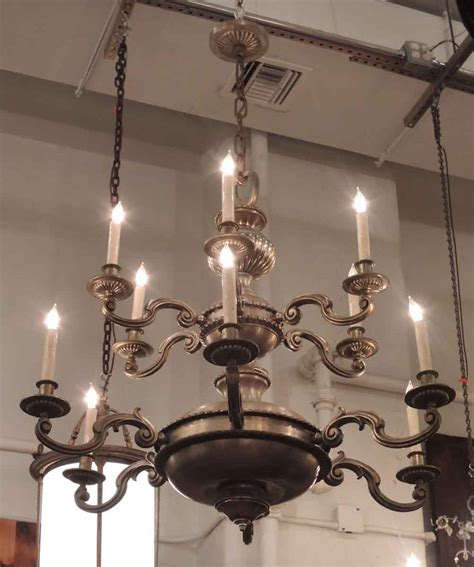 Two Tier Chandelier by Two Tier 12 Light Nickel Bronze Chandelier Olde