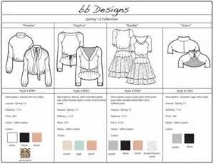 Wholesale Line Sheet Template Line Sheet Exle