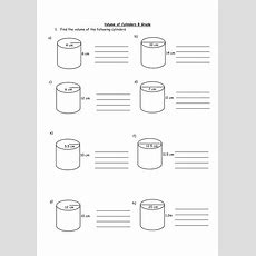 Volume Of Cylinders Worksheet By Holyheadschool  Teaching Resources