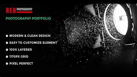 themeforest photography templates red one page photography psd template themeforest