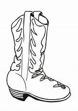 Cowboy Coloring Boot Worksheets Decorated sketch template