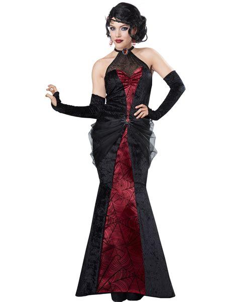 Black Widow Elegant Gothic Witch Vampire Adult Halloween