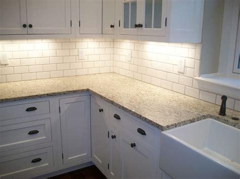 subway tile kitchen backsplash edges  home redesign