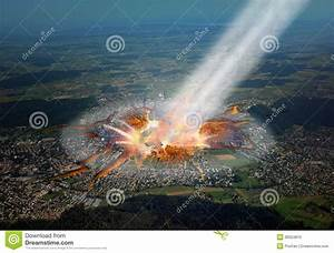 Asteroid Hitting The City. Stock Photo - Image: 30024810