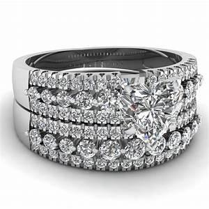 heart shaped diamond wedding sets with white diamonds in With heart wedding ring sets
