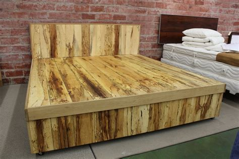 build  wooden bed frame  interesting ways