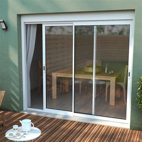 moustiquaire pour porte fenetre coulissante 1 baie coulissante en alu 180 x h 215 cm