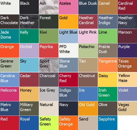 color descriptions trendy colors to wear